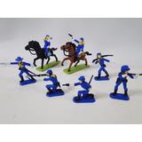 Soldados União Gulliver 07 Homens 02 Cavalos Pintados À Mão