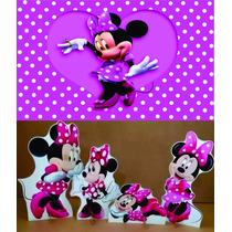 Kit Displays Minnie Rosa 8 Peças + Painel (mod.10) 2,00x1,40