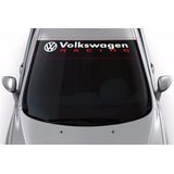 Adesivo Faixa Parabrisa Volkswagen Racing Tunado Acessório
