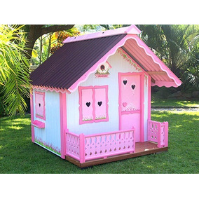 Projeto Casinha Boneca Rosa Proj. Parquinho Casas Madeiras