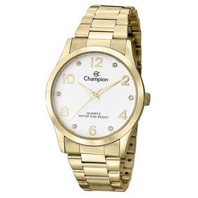 5a69694fa9b Kit Relogio Feminino Champion Original Dourado - Relógios no Mercado ...