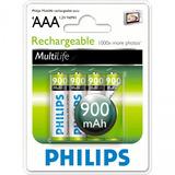 Pilas Recargables Philips Aaa Pack X4 900 Mah Districomp