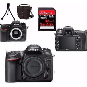 Câmera Nikon D7200 Corpo + Bolsa + Tripé + 32gb C/10 Em Sp