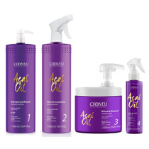 Cadiveu Açaí Blonde Therapy Escova Progressiva Kit 4 Passos