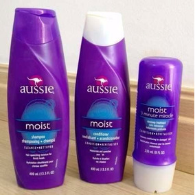 Kit Aussie Moist -shampoo + Condicionador + 3 Minute Miracle