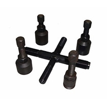 Kit C/5 Ferramentas P/sacar Magneto Rotor +chave Castelo