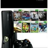 Xbox 360 Desbloqueado 4 Gb + 5 Jogos