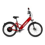 Bicicleta Elétrica Woie Golden Fab. No Brasil - Vermelho