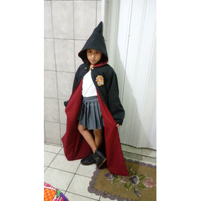 Fantasia Hermione Infantil Capa C/ Capuz E Saia Harry Potter