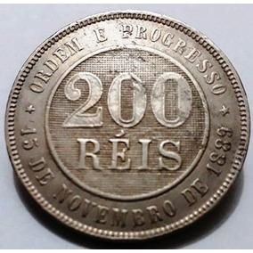 Moeda 200 Réis 1900 Soberba Rara Nesse Estado De Conservação
