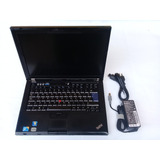 Laptop Core 2 Duo Lenovo T400 Disco 160 Memoria 2 Gigas