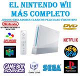 Nintendo Wii+chip 2018+1 Control+nunchuk+memoria Sd 4gb