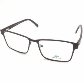 Armação Óculos Degrau Lacoste Quadrado + Brinde Oculos Sol