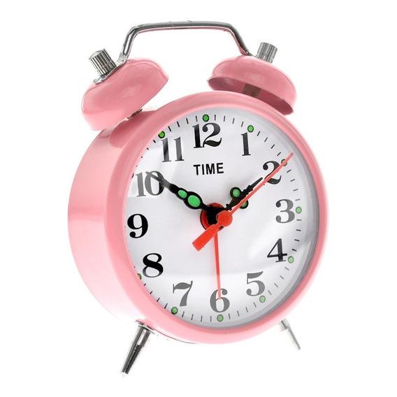 Reloj Despertador A Cuerda Retro Con Campanillas Metálico 05