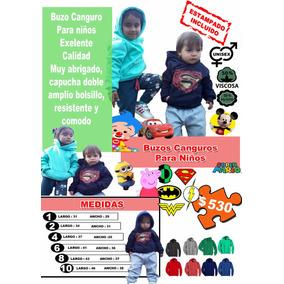 Buzo Canguro Para Niños Lisos O Personalizados