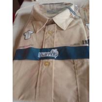 Camisas Colegiales Beige Unisex, Marca Flipper T 14,16,18,20