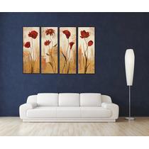 Flores Varias En Bastidor Canvas 100x35 C/u Envio S/c