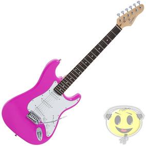 Guitarra Strato Giannini G100 Rosa - Oferta Loja Kadu Som