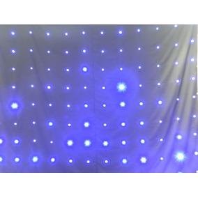 Cortina Led Sensor De Som 3,00x2,50 Painel Led Lampaa Azul