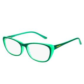 Armação Óculos Grau Acetato Black Flayd Gatinho Feminino 303 d804f6a553
