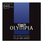 Encordado Bajo Eléctrico 4 Cuerdas Olympia Flat Fls 4b-4095