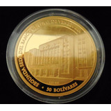 Exotica Moneda 1 Oz Oro Lei 999. Banco Central Venezuela