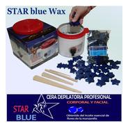 Cera Azul Star Blue Perlas 2k + Fundidor + Espatulas