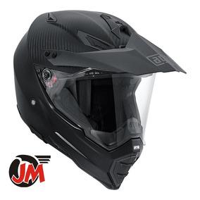 Jm-motors Casco Moto Cross Dual Sport Agv Ax-8 Carbon Mate