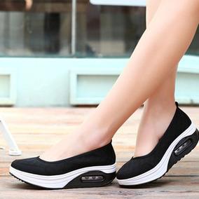 Zapatilla Fashion #36 (23,5cm) Negra. Cómodas Y Livianas.