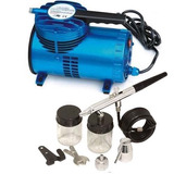 Aerografo Doble Accion Kit Con Compresor Incluido Manguera