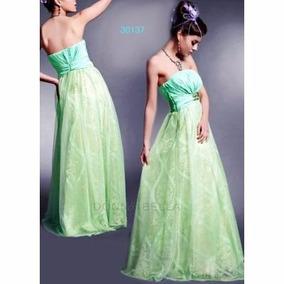 Vestido De Festa Verde. Importado. Pronta Entrega!!!