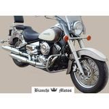 Porta Equipaje Con Respaldo Yamaha Dragstar 650 Bianchi Moto