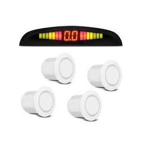Sensor De Ré Estacionamento 4 Sensores Display Sinal Sonoro