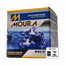 Bateria Moto Moura Ma5-d 5ah Titan/ Fan 150/ Xre 300/ Factor