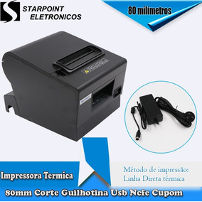 Impressora Termica 80mm Corte Guilhotina Usb Ncfe Cupom