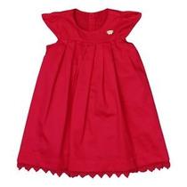 Vestido Infantil Para Festas Com Pregas. Pink - 1