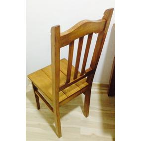 Cadeira De Madeira Maciça Quadrada Oferta Leve Já