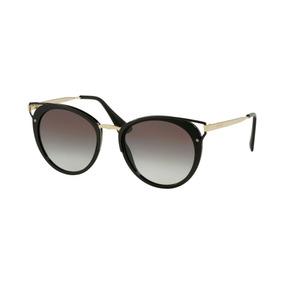 dea80aa93d32b Prada Óculos De Sol Pr 09qs 1ab0a7 Preto 49mm - Óculos De Sol Sem ...