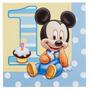 Servilletas X16 Baby Mickey Mouse - Disney - 1 Año