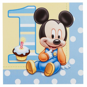 Servilletas X16 Baby Mickey Mouse - Disney - 1 Año