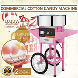 Máquina De Algodón De Azúcar + Carro Tienda De Acero