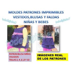 Moldes Patrones Ropa Niñas Y Bebe Falda Blusa