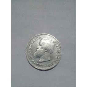 Moeda De Prata De Petrus / 2000 Reis Decreto 1870