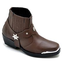 Bota Country Infantil Kids Texas Peão Menino Couro Cowboy