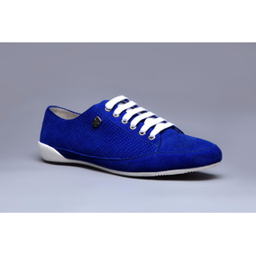 Espectacular Sneakers De Cuero Marca Altoretti, Liquidacion!