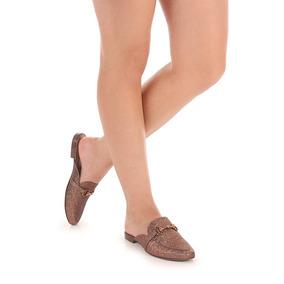 Sapato Mocassim Mule Feminino Lara - Bronze