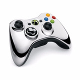 Controle Xbox 360 Chrome Series Prata Microsoft Novo Lacrado