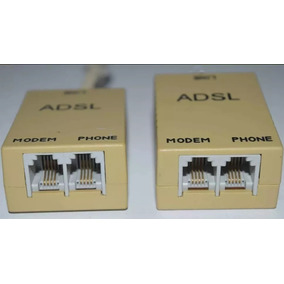 Filtro Adsl Splitter G-jack Sirve Para Modem/punto De Venta
