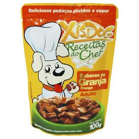 Alimento Úmido Xis Dog Sabores Da Granja Frango 100 G