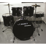Set Bateria Musical Profesional Completa 5 Pz Jbanks